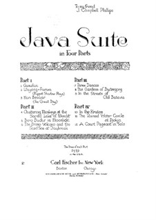 Java Suite: Buch I by Leopold Godowsky