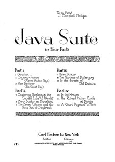 Java Suite: Buch IV by Leopold Godowsky