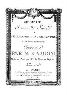 Symphonies Concertantes: Second Suite, No.2 for two violins and orchestra by Giuseppe Maria Cambini
