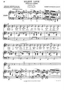 Zwölf Gedichte für Stimme und Klavier, Op.35: Nr.8 Stille Liebe by Robert Schumann