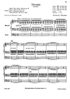 Wesendonck Lieder, WWV 91: Nr.5 Träume, für Orgel by Richard Wagner