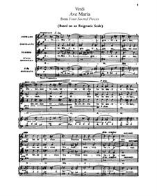 Vier geistliche Stücke: Für Stimmen und Klavier by Giuseppe Verdi