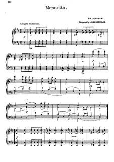 Sonate für Klavier Nr.18 in G-Dur, D.894 Op.78: Teil III. Menuett by Franz Schubert