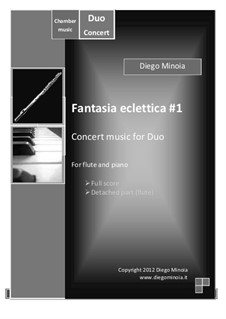 Fantasia eclettica No.1: For flute and piano – Full score + detached part by Diego Minoia