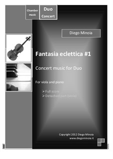Fantasia eclettica No.1: For viola and piano – Full score + detached part by Diego Minoia