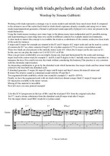 Jazz guitar lesson: Improvisation with triads concept: Jazz guitar lesson: Improvisation with triads concept by Simone Gubbiotti