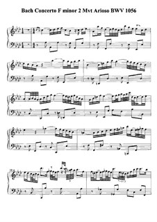 Teil II: Bearbeitung für Klavier by Johann Sebastian Bach