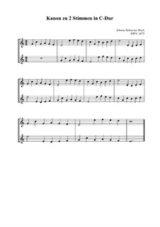 Canon a 2 perpetuus, BWV 1075: Singpartitur by Johann Sebastian Bach