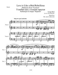 Habanera: Für Klavier, vierhändig by Georges Bizet