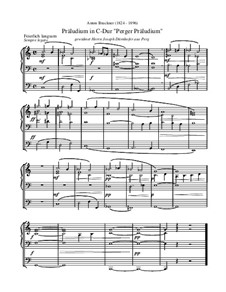 Perger Präludium: Perger Präludium by Anton Bruckner
