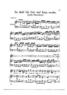 Judas Makkabäus, HWV 63: So shall the lute and harp awake by Georg Friedrich Händel
