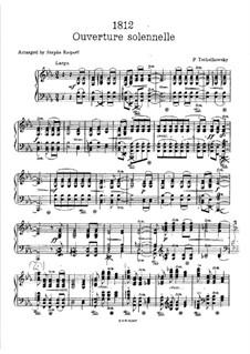 1812. Festliche Ouvertüre, TH 49 Op.49: Klavierauszug by Pjotr Tschaikowski