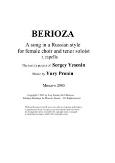 Berioza: A capella by Yury Pronin