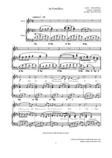 Ae Fond Kiss: Für Stimme und Klavier by folklore