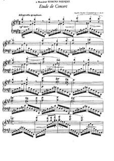 Sechs Konzertetüden, Op.11: Etüde Nr.6 in A-Dur by Agathe Backer Grøndahl