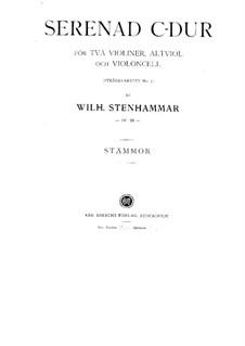 Streichquartett Nr.5 in C-Dur 'Serenade', Op.29: Stimmen by Wilhelm Stenhammar
