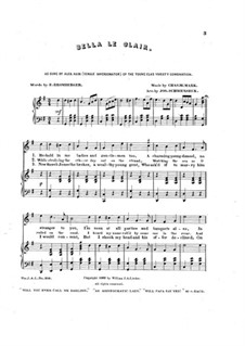 Bella le clair, for Voices and Piano: Bella le clair, for Voices and Piano by Charles W. Mark