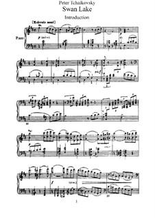 Fragmente: Akte I-II, für Klavier by Pjotr Tschaikowski