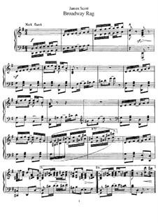 Broadway Rag: Für Klavier by James Scott