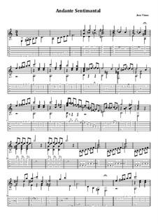 Andante Sentimental: Für Gitarre mit Tabulatur by José Viñas