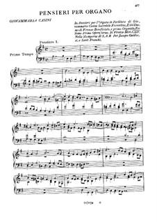 Pensieri per Organo: Pensieri per Organo by Giovanni Maria Casini