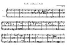 Choralvorspiele (Übrige): Gelobet seist du, Jesu Christ, BWV 723 by Johann Sebastian Bach