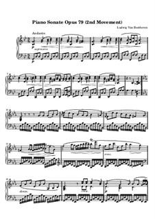 Sonate für Klavier Nr.25, Op.79: Teil II by Ludwig van Beethoven