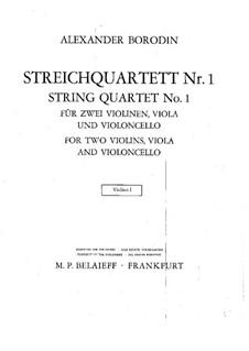 Streichquartett Nr.1 in A-Dur: Violinstimme I by Alexander Porfiryevich Borodin