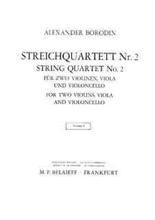 Streichquartett Nr.2 In D-Dur: Violinstimme I by Alexander Porfiryevich Borodin