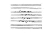Motetten: Teil IV by Giovanni Legrenzi