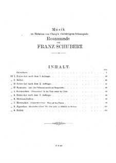 Vollständige Oper: Vollpartitur by Franz Schubert