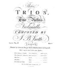 Streichtrio Nr.2, WIII 17 Op.18: Streichtrio Nr.2 by Giovanni Battista Viotti