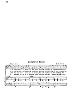 Camptown Races: Für Stimmen und Klavier by Stephen Foster