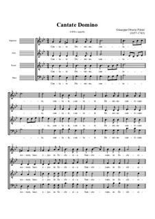 Cantate Domino: Singpartitur by Giuseppe Pitoni
