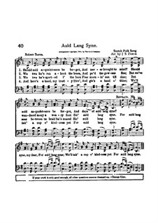 Auld Lang Syne: Für Chor by folklore