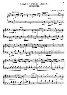 Lucia di Lammermoor: Sextet, for piano by Gaetano Donizetti
