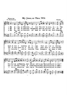 My Jesus, as Thou Wilt: My Jesus, as Thou Wilt by Carl Maria von Weber