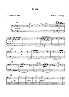 Jeux (Games), L.126: Cellosstimme by Claude Debussy
