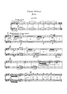 Jeux (Games), L.126: Violastimme by Claude Debussy