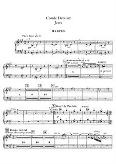 Jeux (Games), L.126: Harfenstimme by Claude Debussy