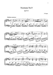 Nocturnen, Op.32: Nr.1 in H-Dur by Frédéric Chopin