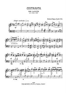 Drei Charakterstücke, Op.10: No.3 Contrasts, for piano by Edward Elgar