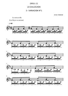 La gallegada, Op.15: No.3 Variación (Variation) by José Ferrer