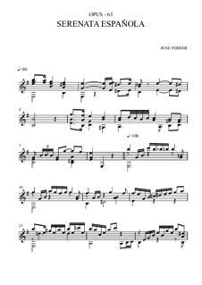 Spanische Serenade, Op.63: Spanische Serenade by José Ferrer