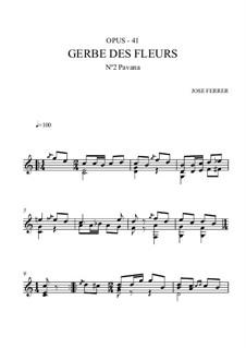 Gerbe des fleurs, Op.41: Nr.2 Pavane by José Ferrer