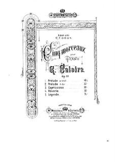 Fünf Stücke für Klavier, Op.10: Vollsammlung by Georgy Catoire