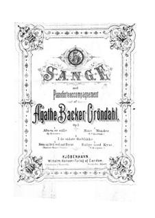 Fünf Gesänge, Op.3: Fünf Lieder by Agathe Backer Grøndahl