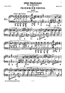 Polonäsen, Op.26: Vollständiger Satz by Frédéric Chopin