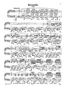 Barkarole in Fis-Dur, Op.60: Für Klavier (mit Applikatur) by Frédéric Chopin