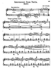 La source, ou Naïla (The Spring): Intermezzo, for Piano by Léo Delibes